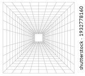 perspective grid geometry grid... | Shutterstock . vector #1932778160