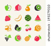 set of colorful simple icons  ... | Shutterstock .eps vector #193279310