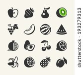 set of black simple icons  ... | Shutterstock .eps vector #193279313