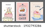 set of birthday greeting cards...   Shutterstock .eps vector #1932793286