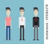 men clothes set   vector  | Shutterstock .eps vector #193281278