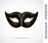 black carnival mask with gold... | Shutterstock .eps vector #193282340