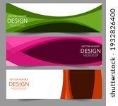 lines waves in pink green...   Shutterstock .eps vector #1932826400