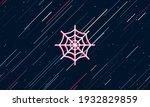 Large White Spider Web Symbol...