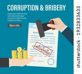 bribery and corruption. hand...   Shutterstock .eps vector #1932833633