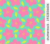 cute hand drawn floral seamless ... | Shutterstock .eps vector #1932836606