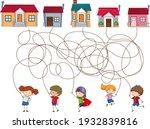 cute cartoon maze game template ... | Shutterstock .eps vector #1932839816