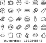 food line icon set   burger ... | Shutterstock .eps vector #1932848543