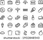 food line icon set   burger ... | Shutterstock .eps vector #1932848543