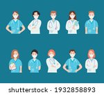 medical doctors with mouth masks | Shutterstock .eps vector #1932858893