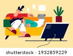 spending time together in... | Shutterstock .eps vector #1932859229