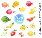 cute fruits mix fish characters.... | Shutterstock .eps vector #1932860429