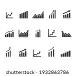 business graph icon vector ...   Shutterstock .eps vector #1932863786