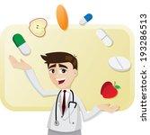 illustration of cartoon doctor... | Shutterstock .eps vector #193286513