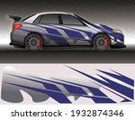 wrap car decal livery rally... | Shutterstock .eps vector #1932874346