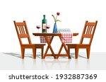 vector cartoon style romantic... | Shutterstock .eps vector #1932887369