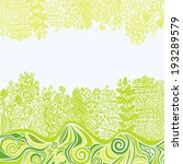 floral nature pattern... | Shutterstock . vector #193289579
