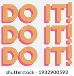 retro colorful slogan print...   Shutterstock .eps vector #1932900593