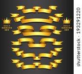 elegance gold ribbon banner... | Shutterstock .eps vector #193291220