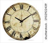 vintage wall clock for interior ...   Shutterstock .eps vector #1932922439