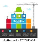 infographic building business.... | Shutterstock .eps vector #1932935603