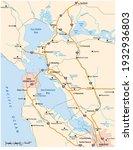 vector road map of californias...   Shutterstock .eps vector #1932936803