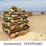 Large Stacks Of Firewood Across ...