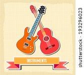 sticker guitar background... | Shutterstock .eps vector #193296023