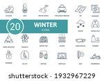 Winter Icon Set. Contains...