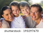 happy young family closeup... | Shutterstock . vector #193297670