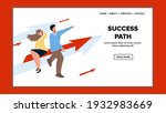 success path of young man and...   Shutterstock .eps vector #1932983669