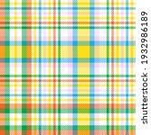 rainbow pastel plaid seamless...   Shutterstock .eps vector #1932986189
