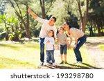 happy young family bird... | Shutterstock . vector #193298780