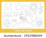 printable worksheet for easter... | Shutterstock .eps vector #1932988349