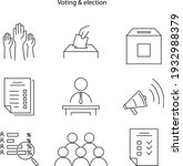 election and voting icon...