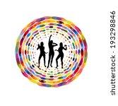 dancing girls in a circle.... | Shutterstock .eps vector #193298846