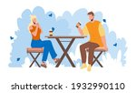 urban park visitors drink...   Shutterstock .eps vector #1932990110
