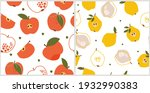 a set of seamless patterns with ... | Shutterstock .eps vector #1932990383
