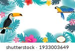 summer tropical background with ... | Shutterstock .eps vector #1933003649