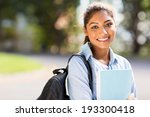 smart female college student on ... | Shutterstock . vector #193300418