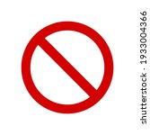 red prohibition sign on white... | Shutterstock .eps vector #1933004366