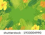 tropical background with jungle ...   Shutterstock .eps vector #1933004990