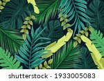 tropical background with jungle ...   Shutterstock .eps vector #1933005083
