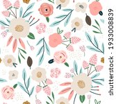 seamless spring pattern with... | Shutterstock .eps vector #1933008839