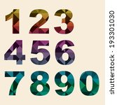 numbers set modern style.... | Shutterstock .eps vector #193301030