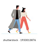 young man and woman walking... | Shutterstock .eps vector #1933013876