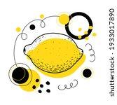 abstract vector lemon. lemon...   Shutterstock .eps vector #1933017890