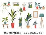 set of isolated interior decor...   Shutterstock .eps vector #1933021763