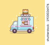 cute cat sell burger on...   Shutterstock .eps vector #1933026476