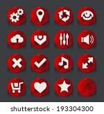 red web icons collection.... | Shutterstock .eps vector #193304300